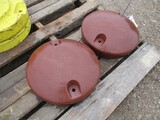 5490-(2)JD L/M FRONT WHEEL WEIGHTS, 2X THE MONEY