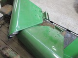 2822-JD NEW GEN. DELUXE FENDERS W/ BRACKETS, NICELY REPAINTED CONDITION