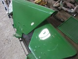 2823-SET OF JD 2 CYLINDER DELUXE FENDERS W/ BRACKETS, NICELY REPAINTED CONDITION