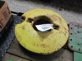 4406-(2) JD H FRONT WHEEL WEIGHTS, 2X THE MONEY