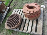 99383- PALLET OF IH WEIGHTS, MAN HOLE COVERS **(all one money)