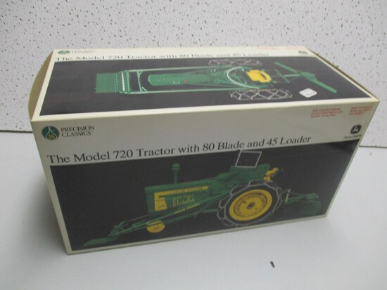 JD 720 W/LOADER, BLADE, PRECISION (NIB)