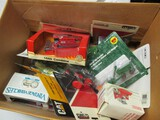 BOX OF MISC 1/64 SCALE TOYS (13 LOTS; 1 MONEY)