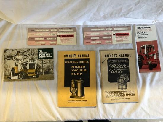 (6) IH Manuals, Brochures