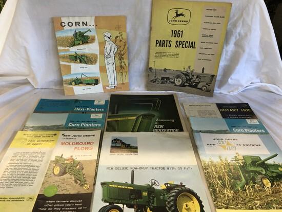 (10) 1960's JD Brochures