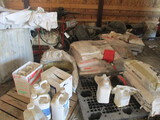 9626-CONTENTS OF SEED BAGS, UTILITY CART, MORE