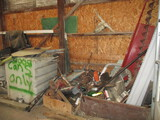 9631-CONTENTS OF WEST WALL OF SCRAP & MISC