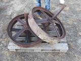 91441-PALLET OF CASE FRONT STEEL WHEELS
