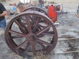 91442-PALLET OF CASE REAR STEEL WHEELS