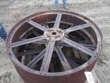 91443-PALLET OF CASE REAR STEEL WHEELS