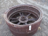 91444-PALLET OF CASE REAR STEEL WHEELS