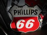 91498-PHILLIPS 66  PORCELAIN HANGING SIGN