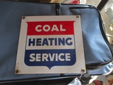 91500-COAL HEATING SERVICE PORCELAIN SIGN