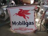 91506-MOBILGAS PORCELAIN SIGN