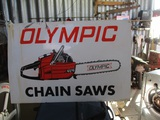 91511-OLYMPIC CHAIN SAW METAL SIGN