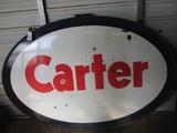 91513-CARTER PORCELAIN SIGN