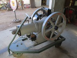91514-HASSELL SIMPLE OIL ENGINE WITH CART, VERY RARE