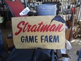 91526-STRATMAN GAME FARM SIGN