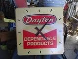 91531-DAYTON PLASTIC CLOCK