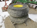 11389- PAIR OF TIRES OFF OF FEED GRINDER