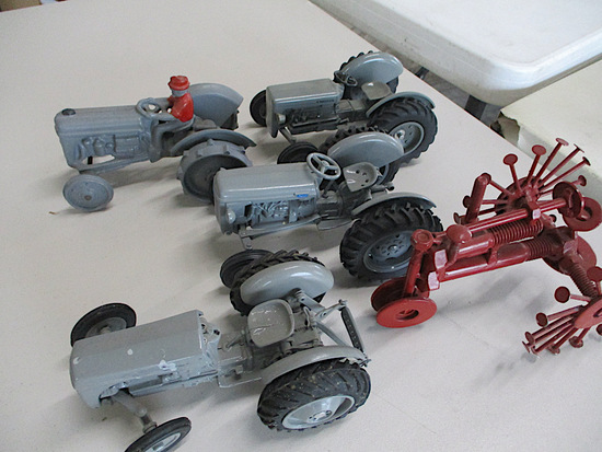 9732-4 FERGUSON AND HOMEMADE TRACTOR TOYS