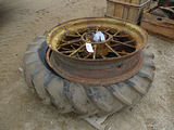 12354-JD ROUND SPOKE REAR WHEELS