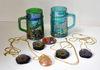 CARNIVAL GLASS MUGS & JEWELRY - ASPCA CHARITY ITEM