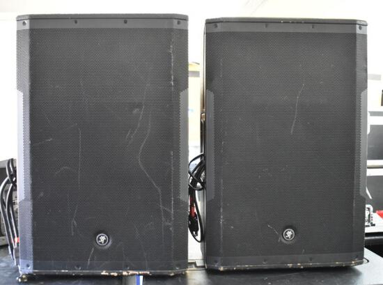 TWO MACKIE SRM650 ACTIVE SPEAKERS