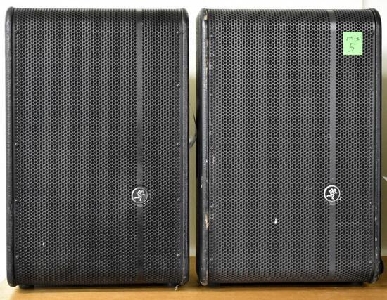TWO MACKIE HD1221 ACTIVE SPEAKERS