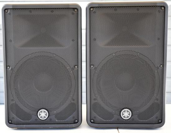 TWO YAMAHA DBR12 ACTIVE SPEAKERS