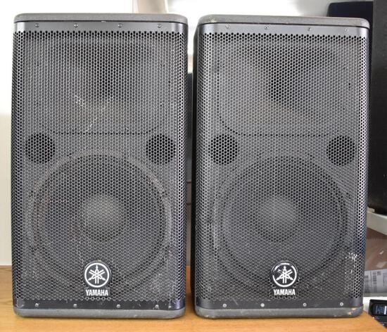TWO YAMAHA DSR112 FLOOR MONITORS