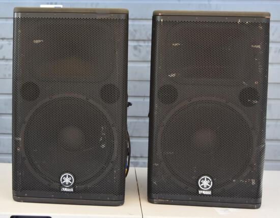 TWO YAMAHA DSR115 FLOOR MONITORS
