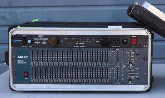 ASHLY GRAPHIC EQUALIZER + FURMAN POWER CONDITIONER