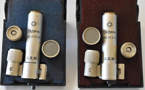 TWO OKTAVA MK-012-01 CONDENSER MICROPHONES