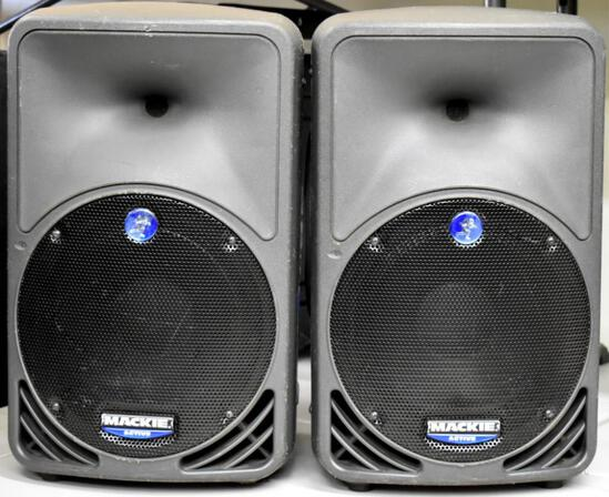 TWO MACKIE SRM350 ACTIVE SPEAKERS