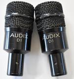TWO AUDIX D1 MICROPHONES