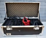 ANVIL CASE WITH ASSORTED MICROPHONE ACCESSORIES