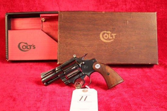 "11. 1976 Colt Diamondback 38 Spl, 2½"" Barrel, Royal Blue, NIB, SN: D81718"
