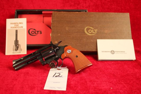 "12. 1972 Colt Diamondback .38 Spl, 4"" Barrel, Blued, NIB, SN: D57188"