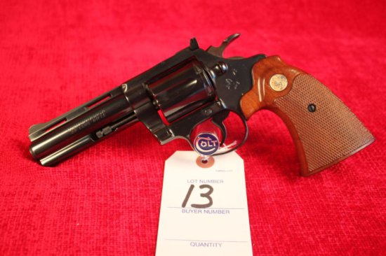 "13. 1976 Colt Diamondback .22LR, 4"" Barrel, Blued, SN: D95460"
