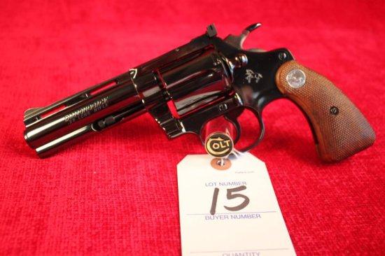 "15. 1975 Colt Diamondback .22LR, 4"" Barrel, Blued, SN: D59232"