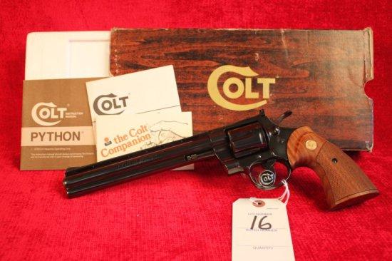 """16. 1980 Colt Python Target .38 Spl, 8"""" Barrel, Colt Royal Blue, SN: K05509"""