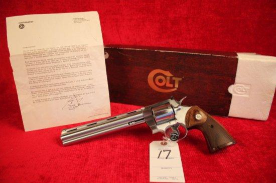 "17. 1961 Colt Python .357 MAG, E-Nickel 8"" Barrel, SN: 15335"