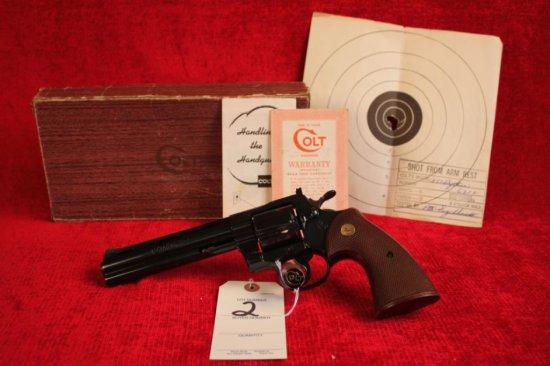 """2. 1958 Colt Python .357 MAG, Colt Royal Blue, 6"""" Barrel, SN: 6212"""
