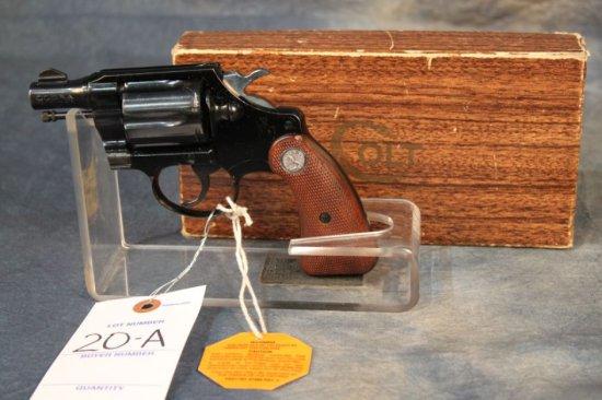 "20A. Colt Cobra 2"" Barrel, .38 spl. Blued LNIB, SN: 120027"