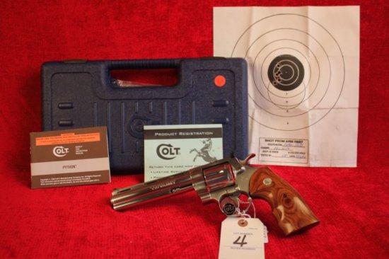 "4. 1999 Colt Python Elite .357 MAG, NIB, Complete, Stainless, 6"" Barrel, SN: PE03032"