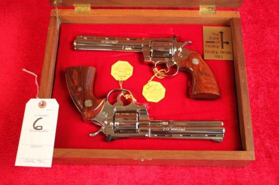 6. 1981 Colt 2-Gun Presentation Set