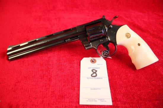 """8. 1981 Colt Python .357, Colt Royal Blue, 8"""" Barrel, SN: K31063"""