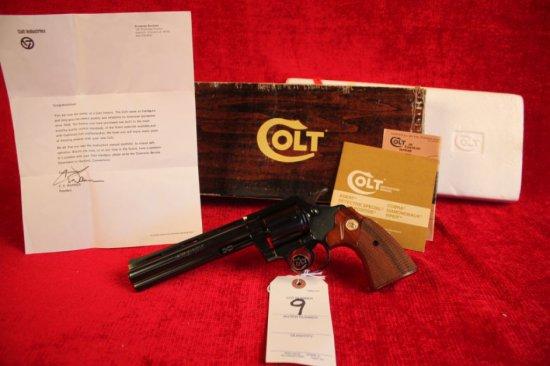 "9. 1981 Colt Diamondback .22LR, 6"" Barrel, Blued, NIB, Complete, SN: S82210"