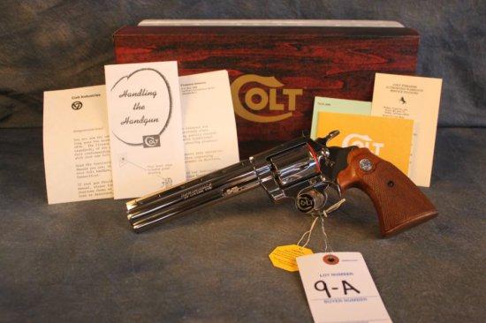 "9A. Colt Diamondback .38, 6"", Nickel, LNIB, SN:D40199"
